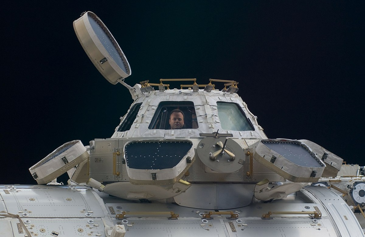 NASA astronaut Ron Garan looks out of a window on the Cupola module during Expedition 28 in 2011. Credit: NASA