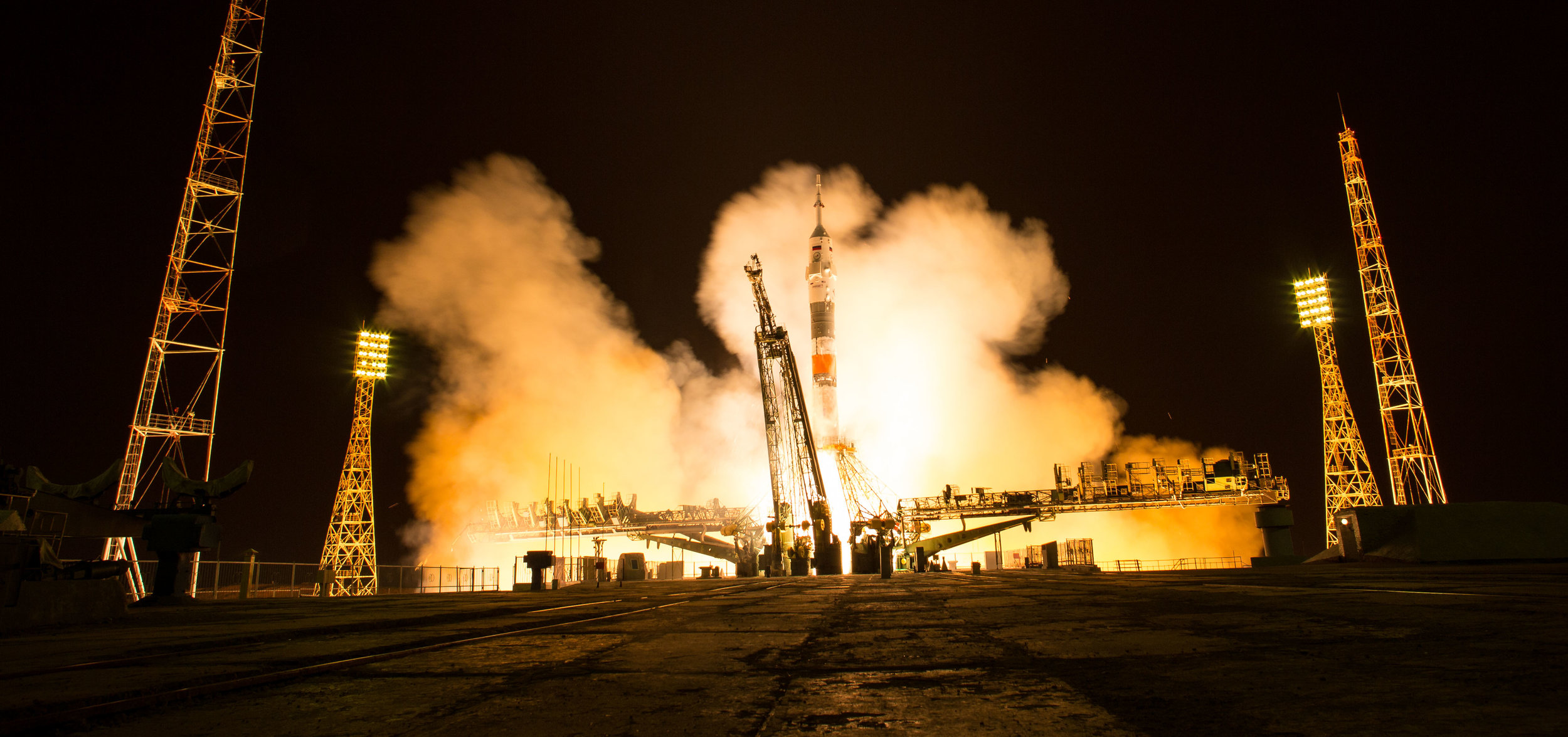 File photo of Soyuz MS-08 launching in March 2018. Credit: NASA/Joel Kowsky