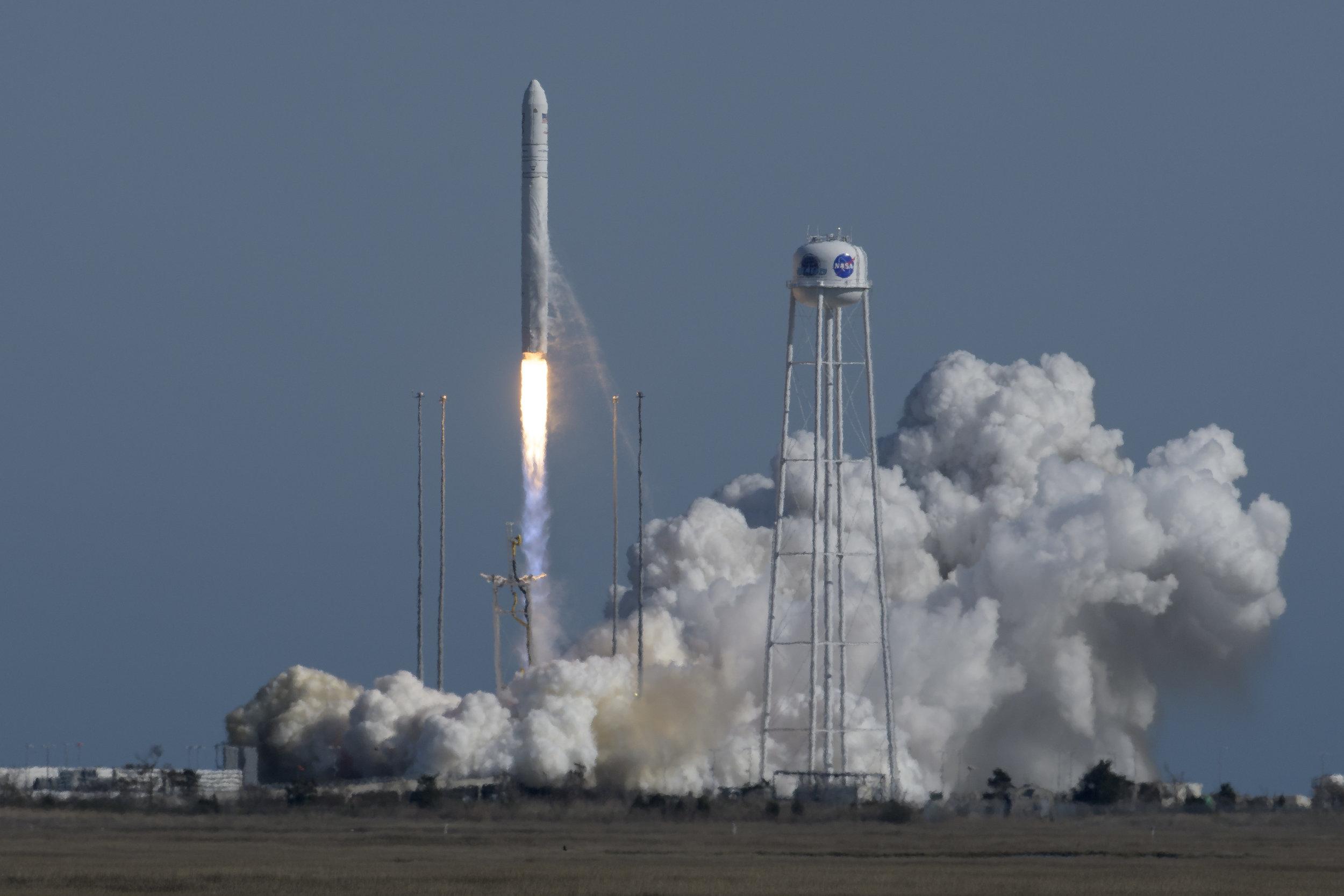 An Antares 230 rocket launches the NG-11 spacecraft into orbit. Credit: NASA/Bill Ingalls