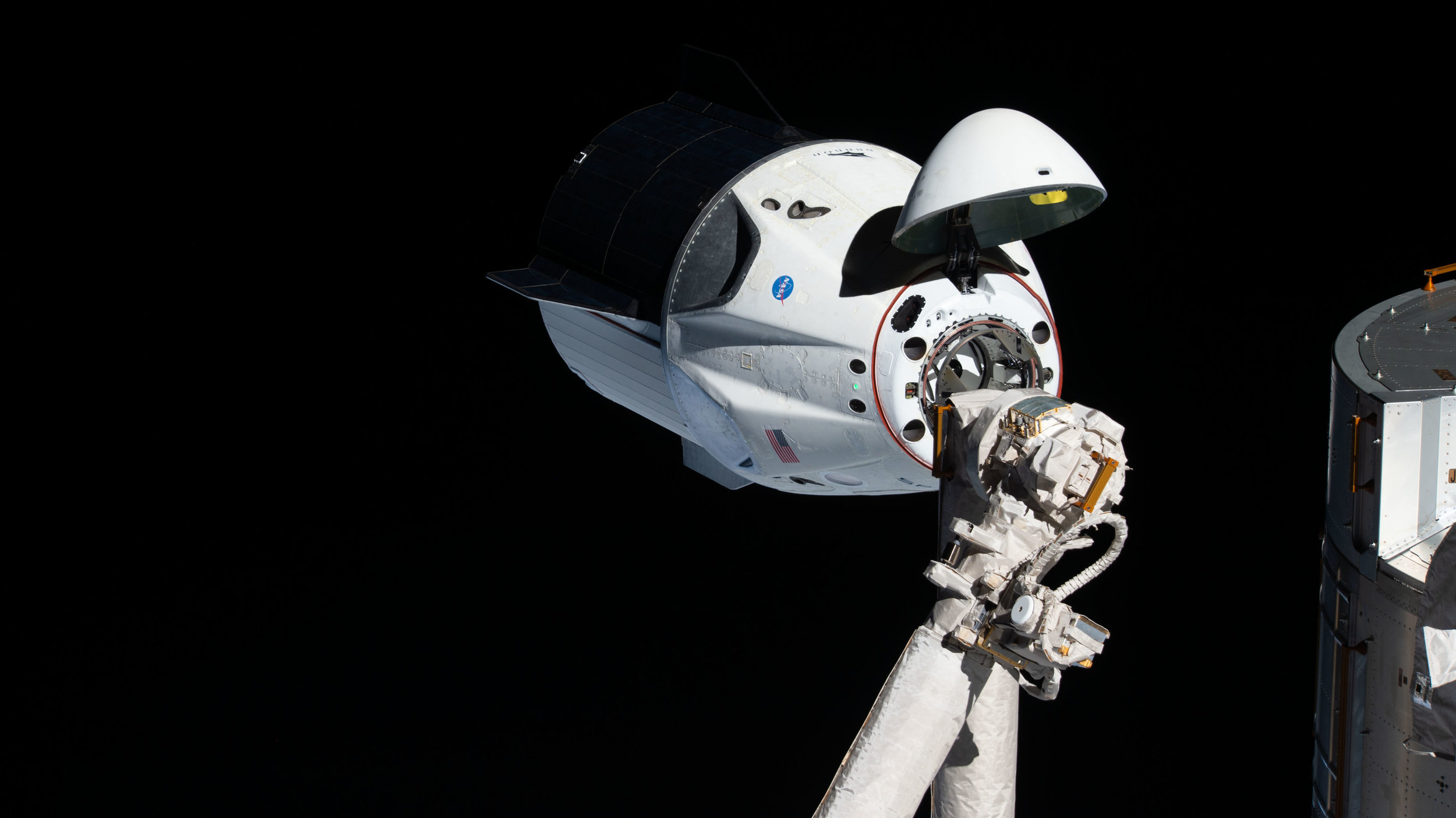 SpaceX's Crew Dragon Demo 1 mission approaches the International Space Station. Credit: NASA