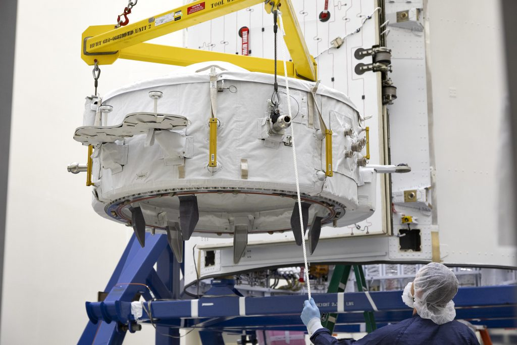 IDA-3 being prepared for launch inside CRS-18 Dragon's trunk section. Credit: NASA