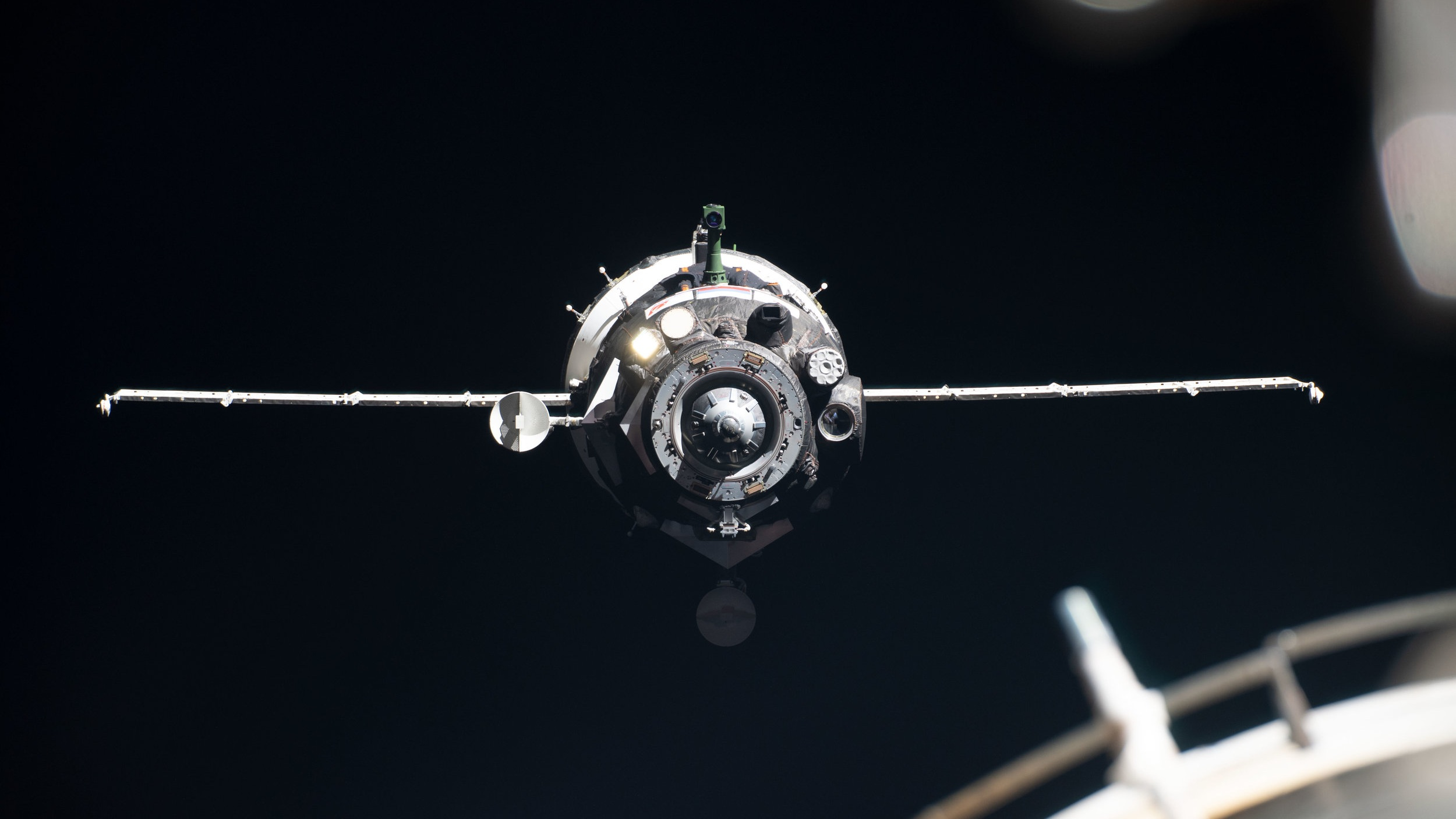 Soyuz MS-13 just before docking. Credit: NASA