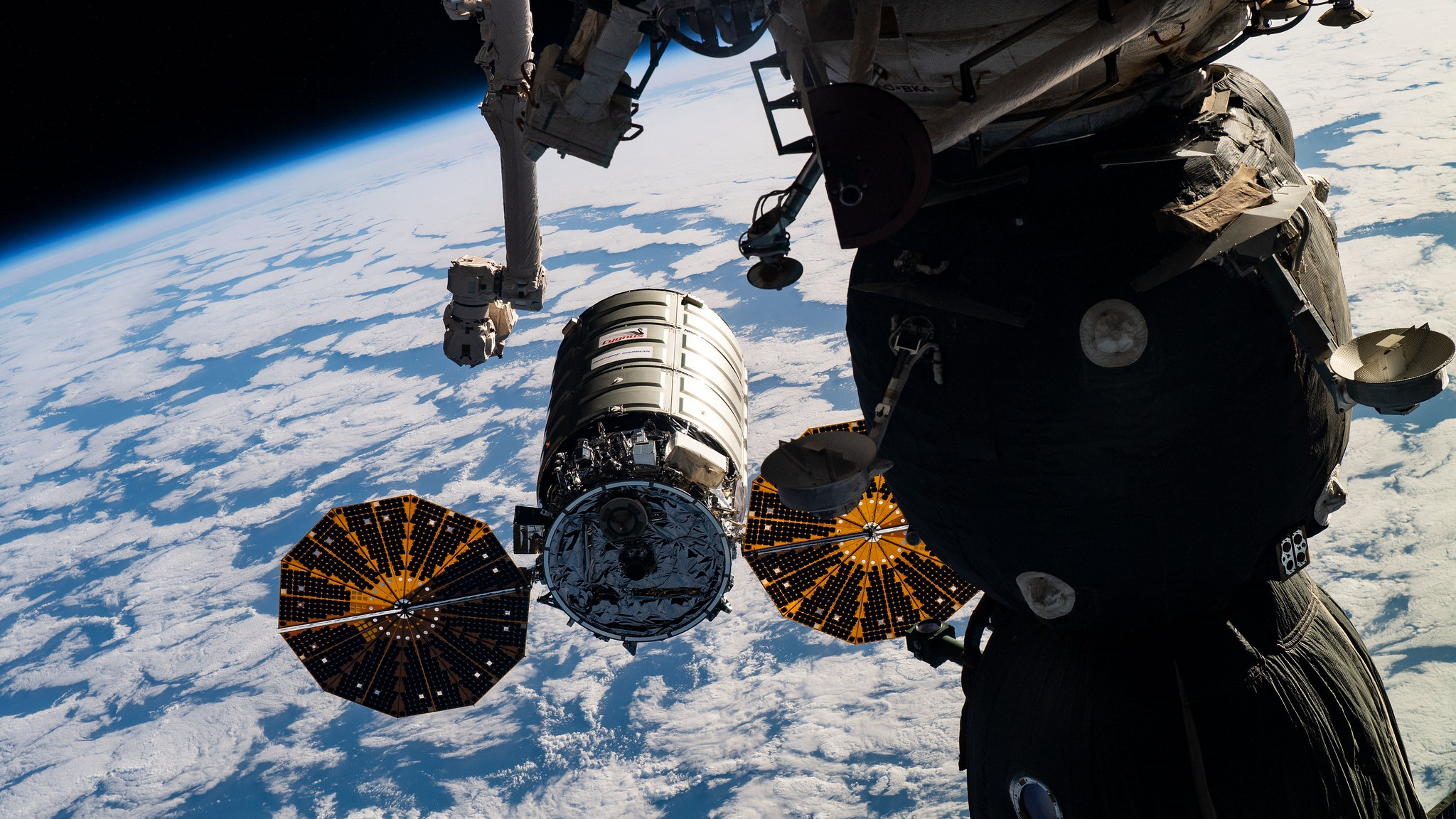The NG-11 Cygnus spacecraft as it rendezvoused with the ISS in April 2019. Credit: NASA