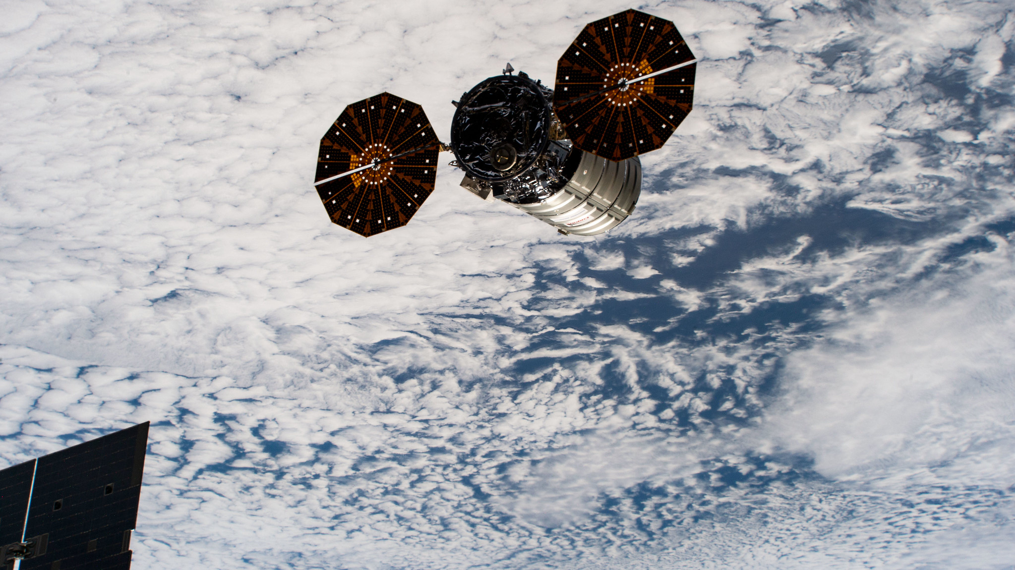 The NG-11 Cygnus departs the ISS. Credit: NASA