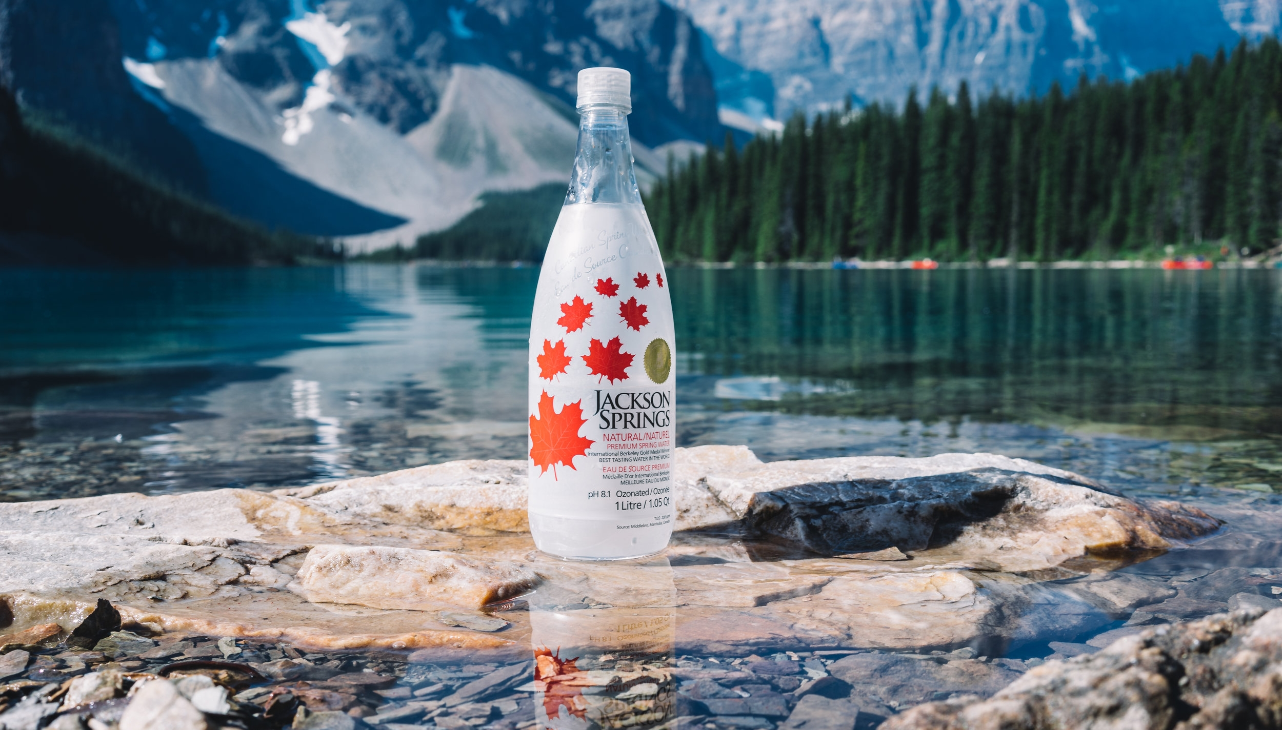 Choose 100% Natural Spring Water   Don't settle for processed tap water.