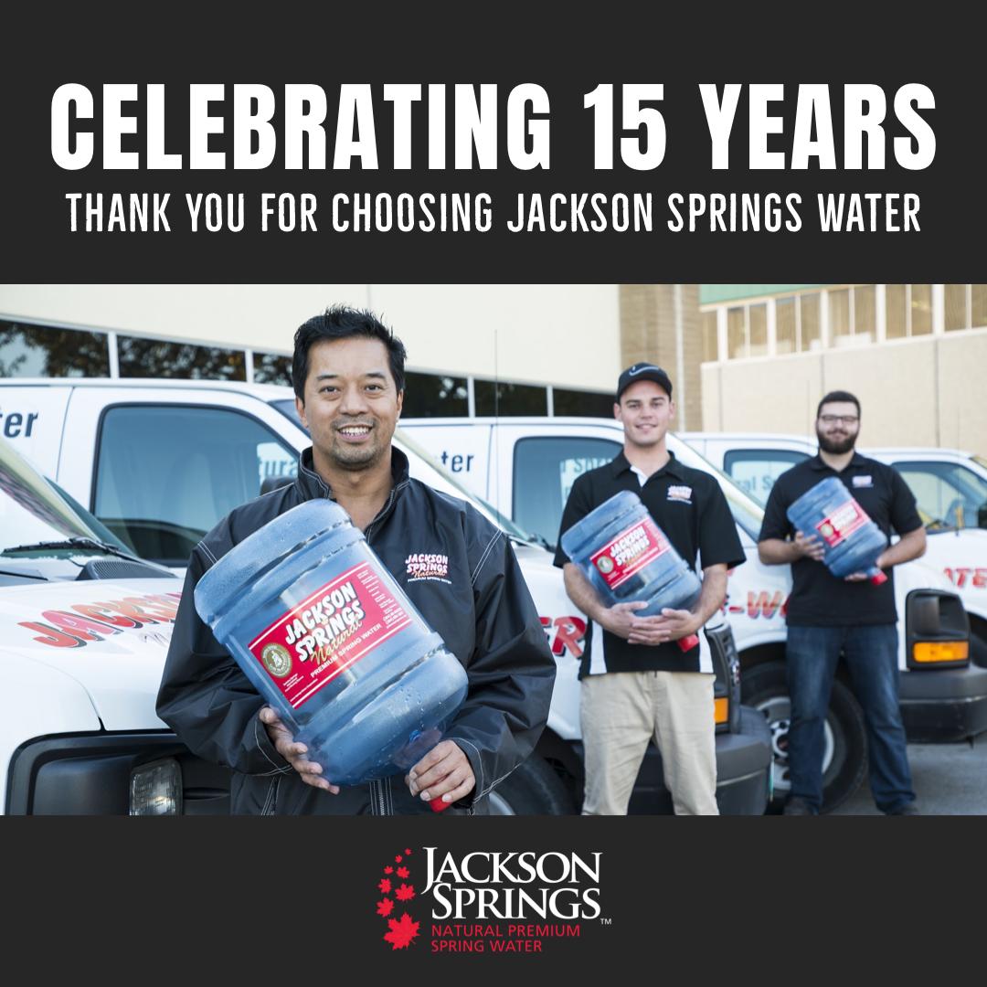 Jackson Springs Water - Celebrating 15 years