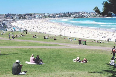 Visit world famous Bondi Beach -