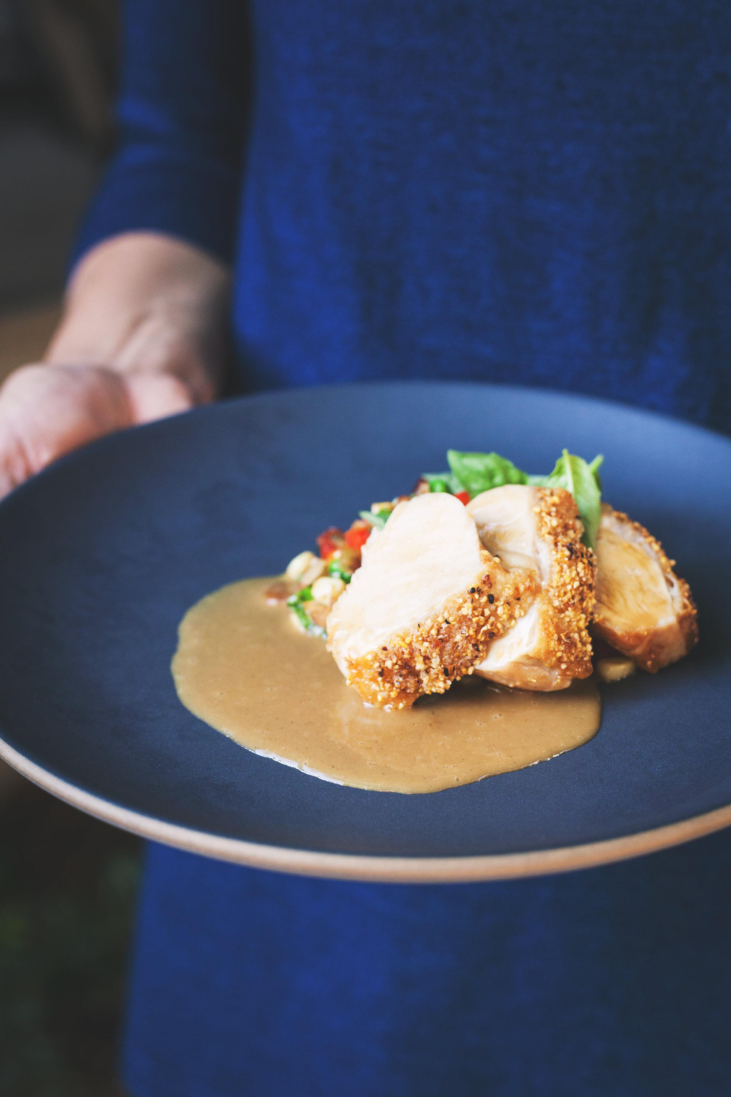 Cornmeal crusted chicken recipe