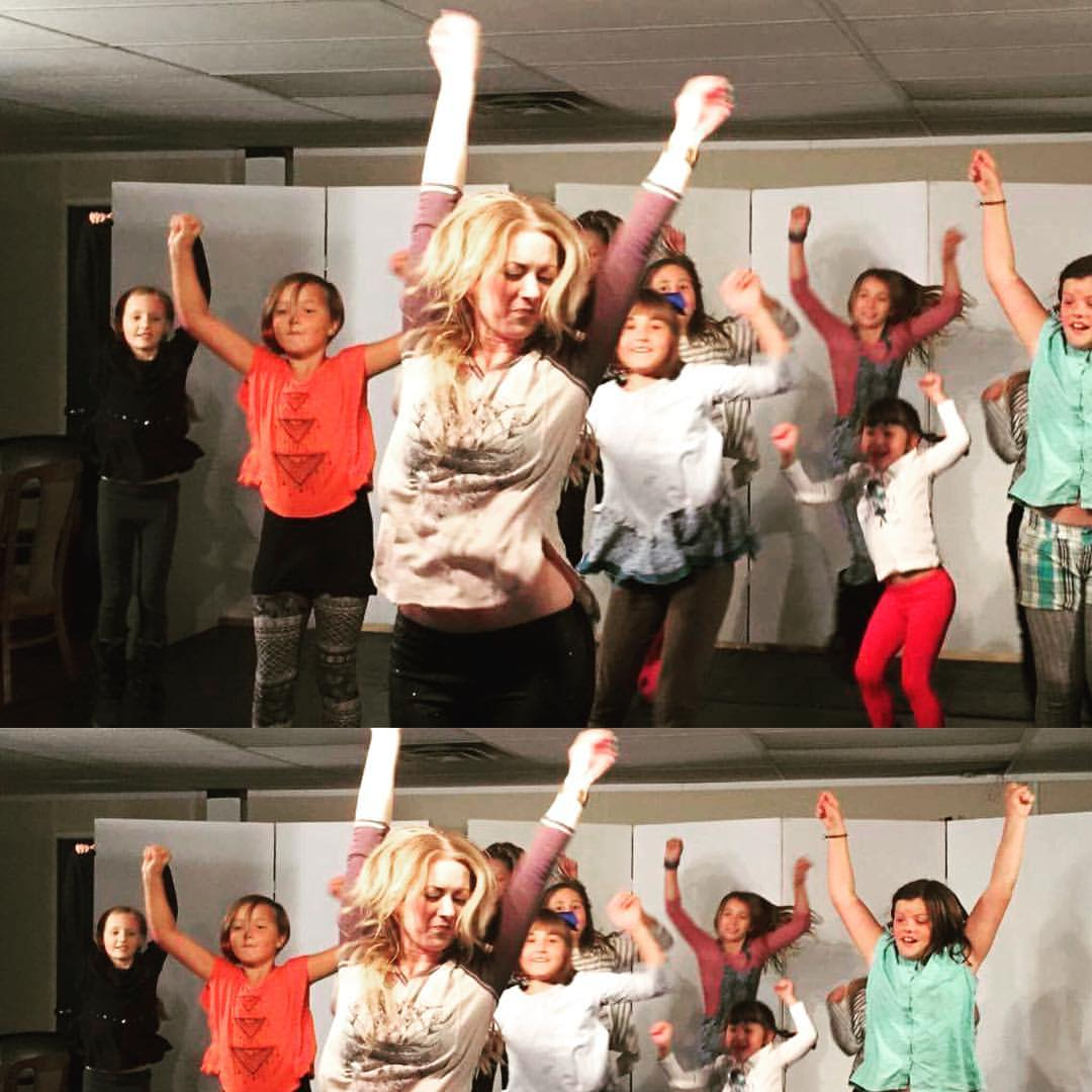 hard at work in rehearsal for fame jr!