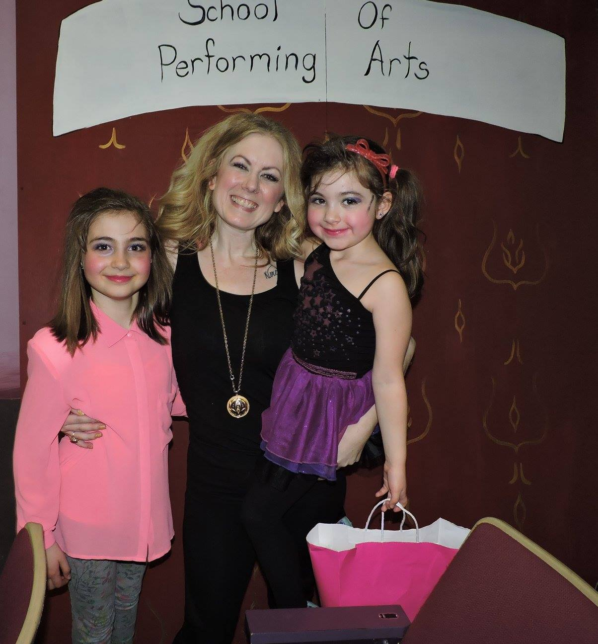 Two of kismet's young stars Gabriela and Coco Conn. After Fame Jr with director Bonnie Catterson.