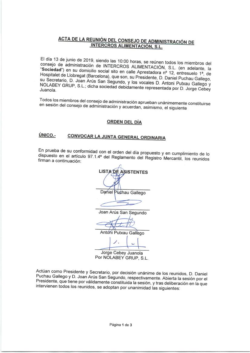 Convocatoria Junta General Pag1