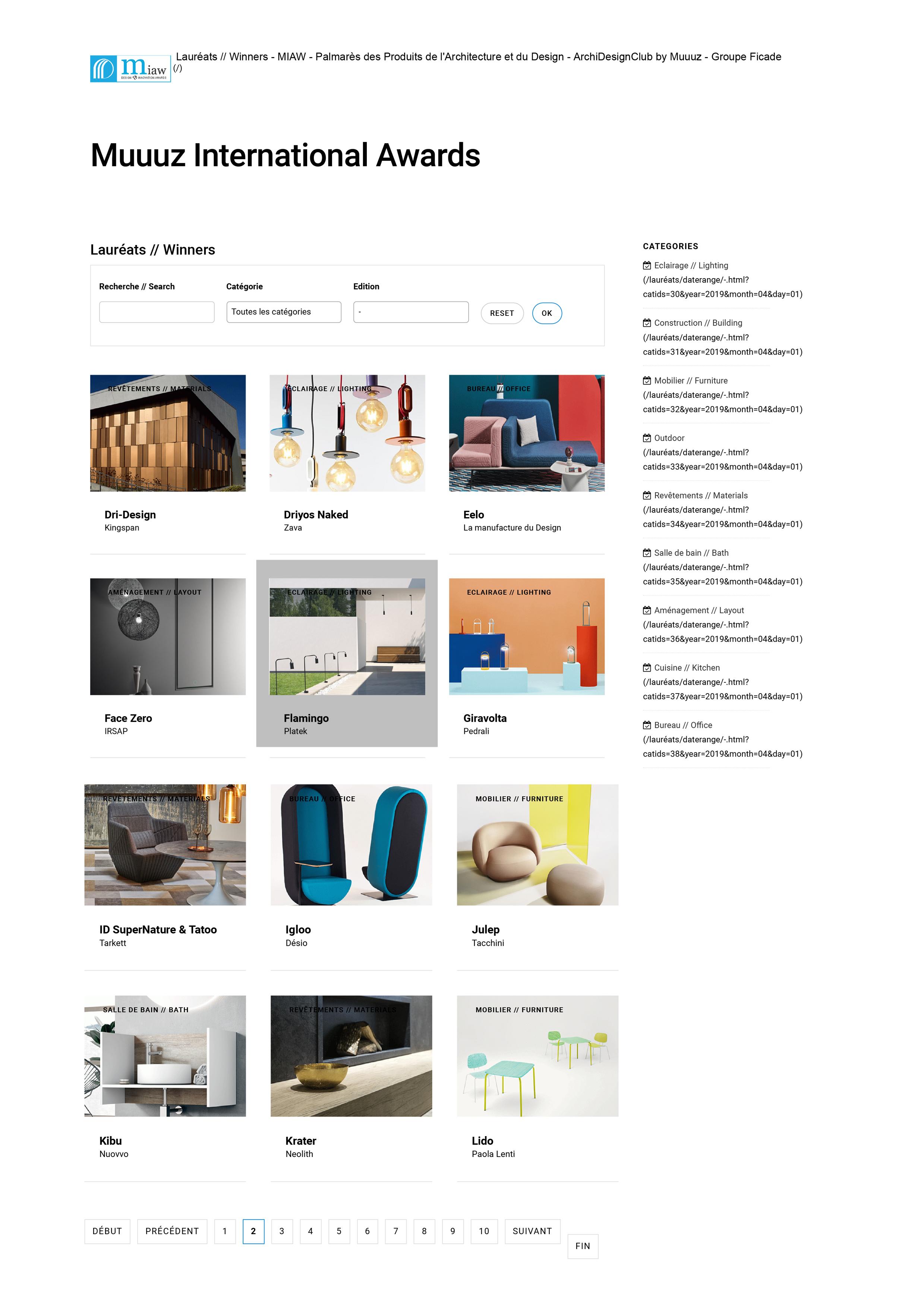 Muuuz international Awards/winner_Flamingo design By Sara Moroni