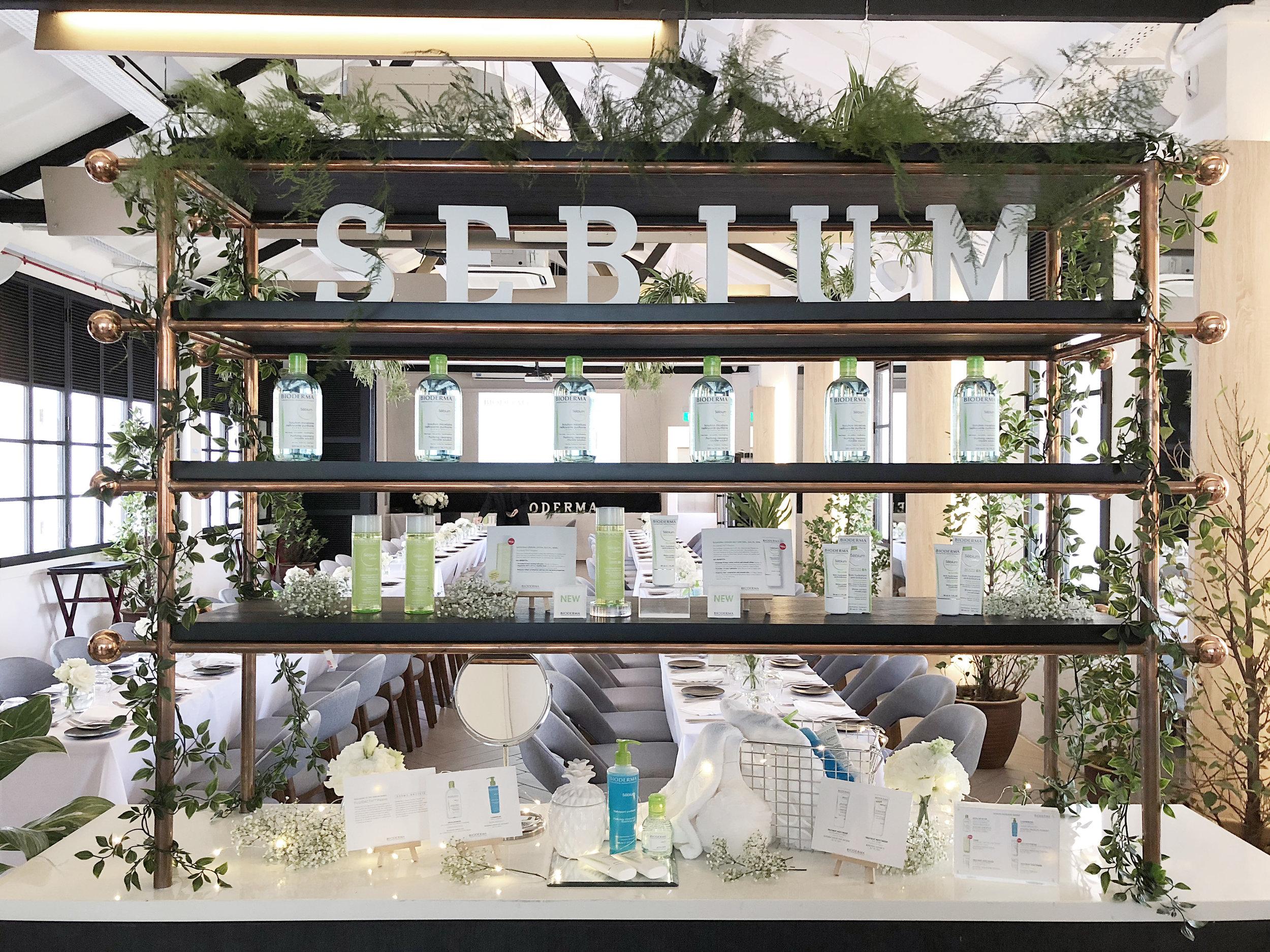 Visual Merchandising for Bioderma Sebium event in Singapore