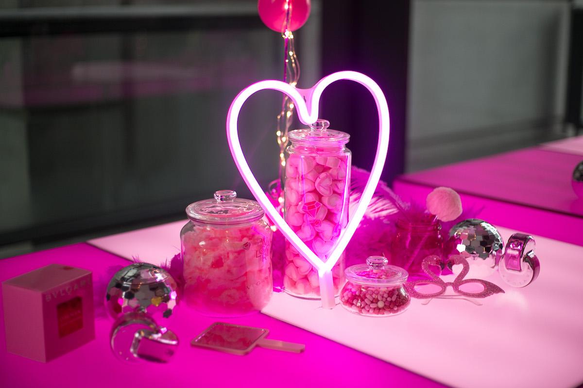 Visual Merchandising For Bulgari Omnia Pink Sapphire Event