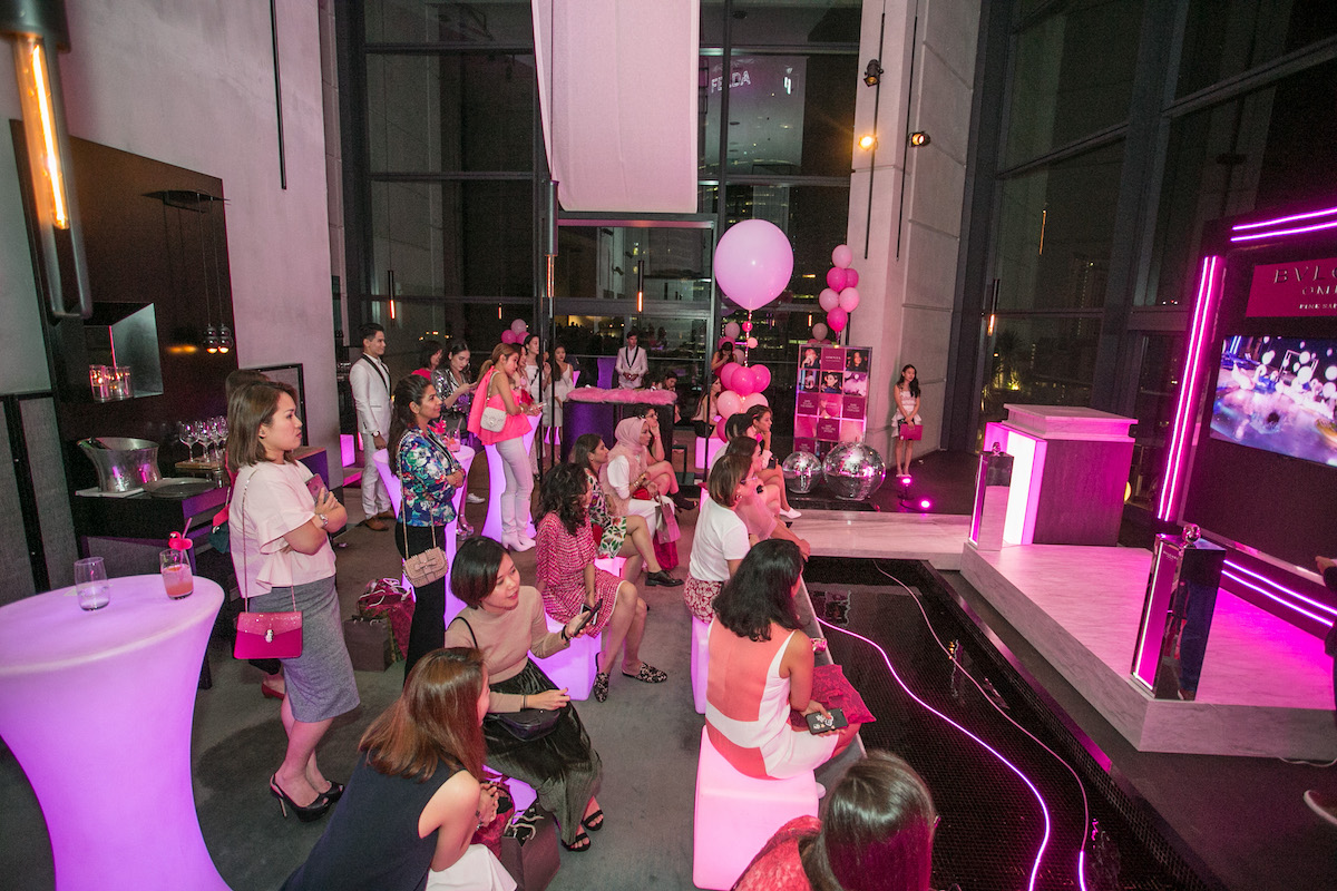 Event styling for Bulgari Omnia Pink Sapphire event