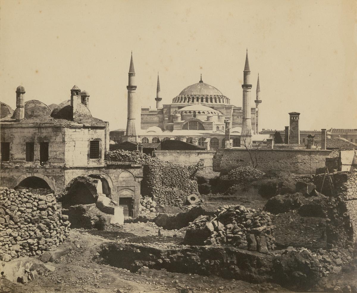 19th century photograph of the Hagia Sophia (wikimedia commons)