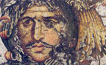Mosaic from the floor of the Great Palace of the Caesars. Now on display at the Mosaic Museum, Istanbul.