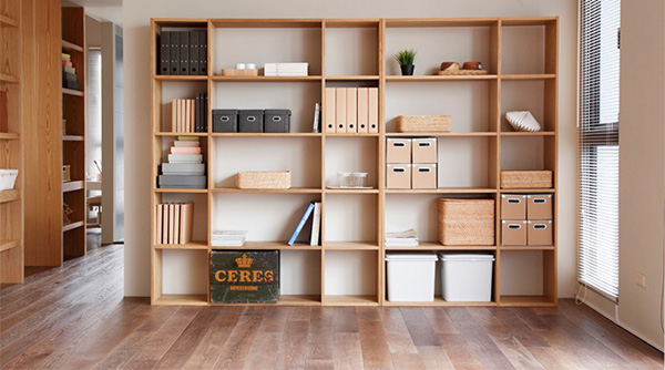 Bookcases come in various shapes and wood finishes and surprisingly light too.