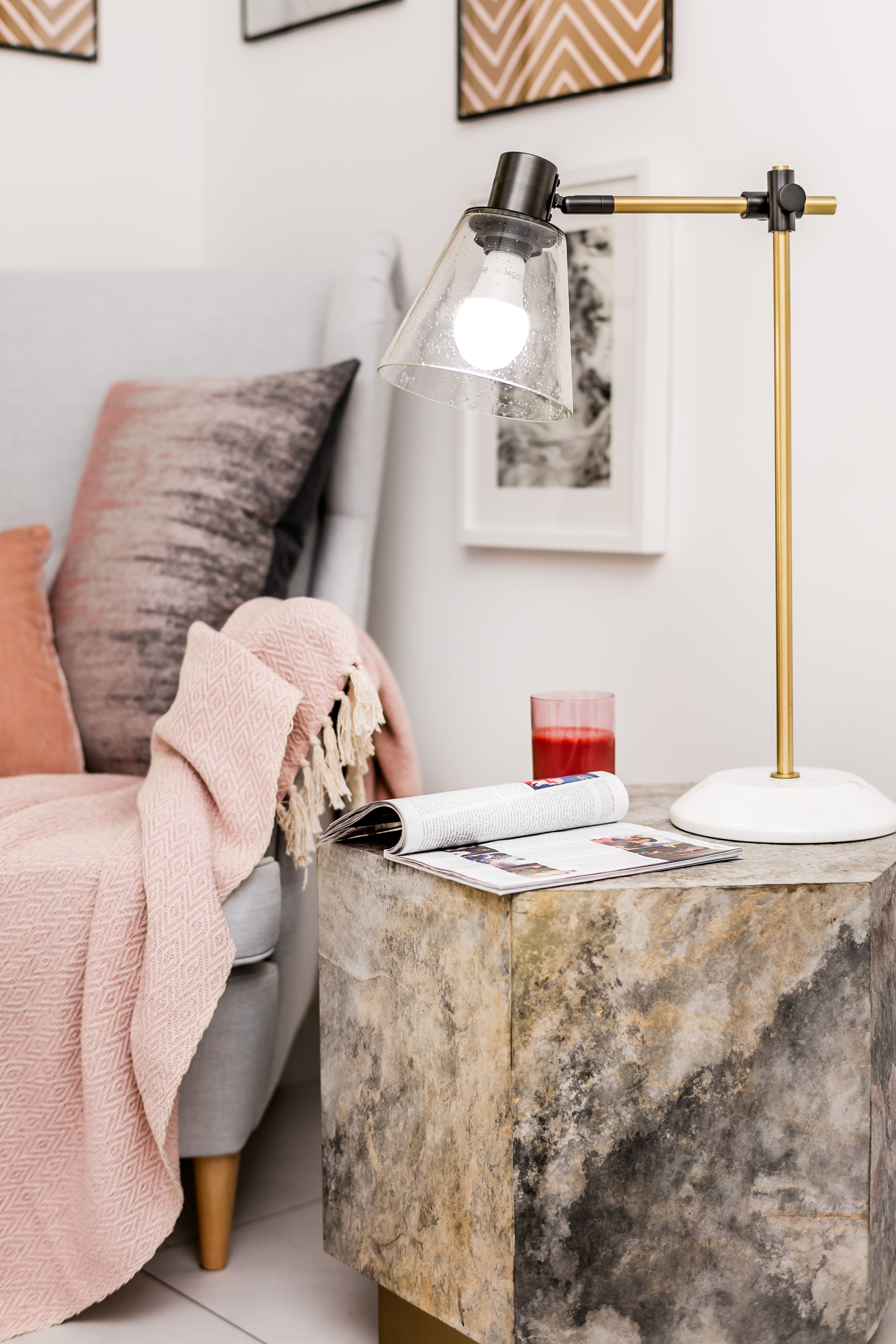TIP:  Choose a side table lamp which is practical and gives off a good amount of light.
