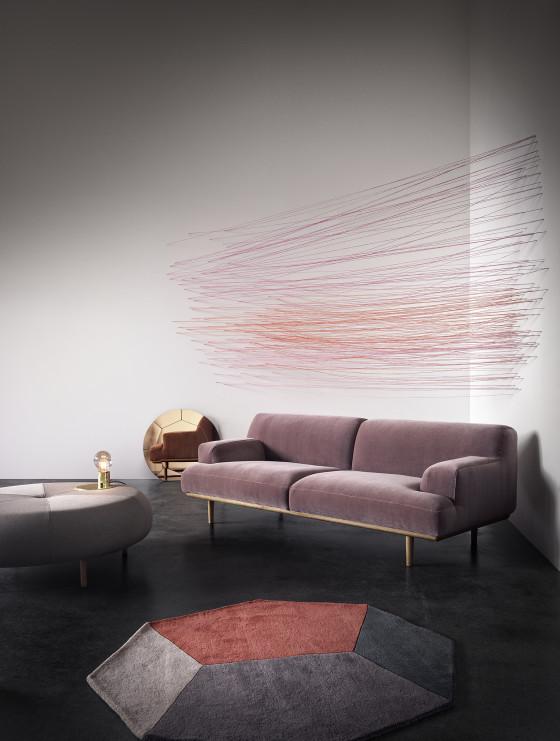 Pink Velvet Sofa by Bolia.com
