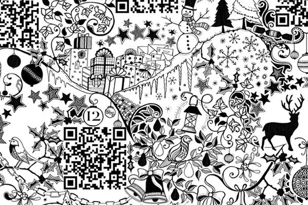 Joanna Basford Inky Advent Calendar 02.jpg
