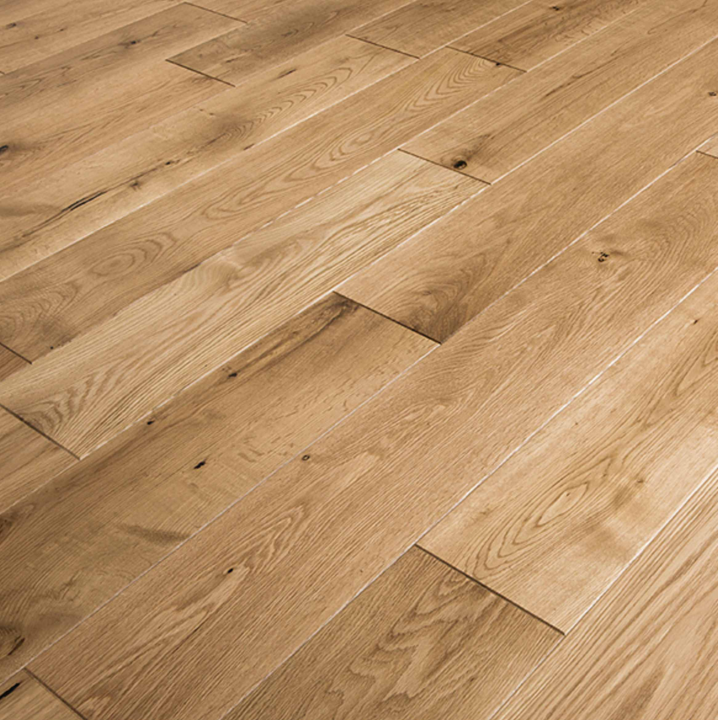 Low End - Trade Choice Solid Oak  (Image: poshflooring.co.uk)