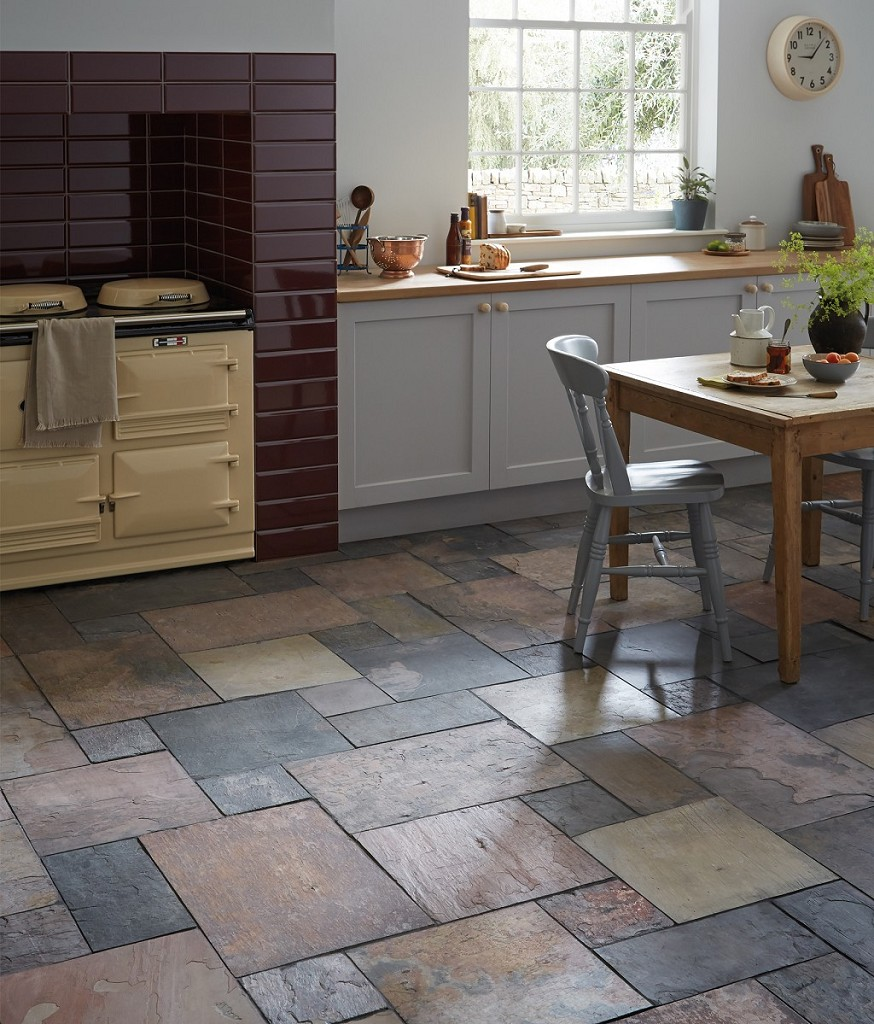 Low End - Sheera Natural Slate  (Image: Topps Tiles)