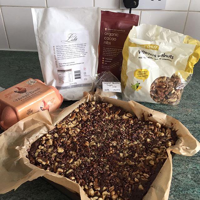 Brownies made by Cheryl with Lielit Teff flour ! Yummy 😋 #allergyfree #chocolatecake #glutenfreelife #glutenfreefood #teff #healthylifestyle