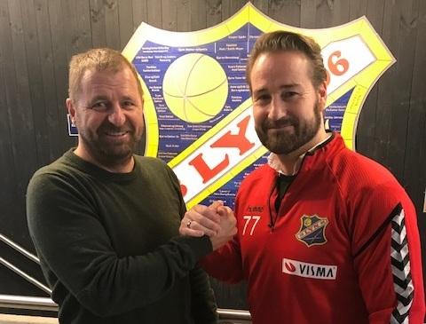 Styreleder Petter Sætherbakken og Glenn Hartmann. Foto: Lyn1896.no
