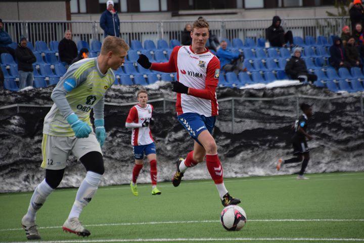 Jonas Bakken med mål og nok en god kamp. Foto: Lyn1896.no
