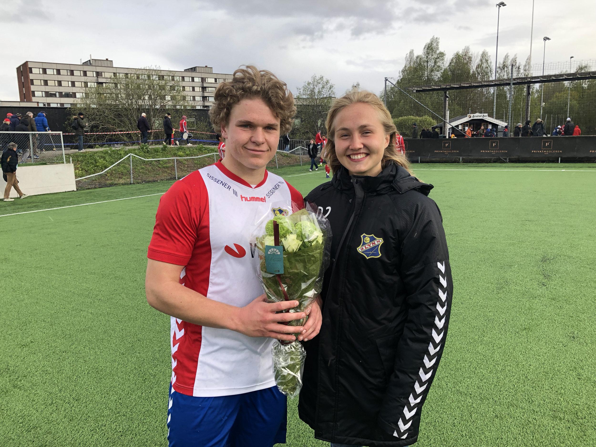 August Randers og Noor Eckhoff. Foto: Lyn1896