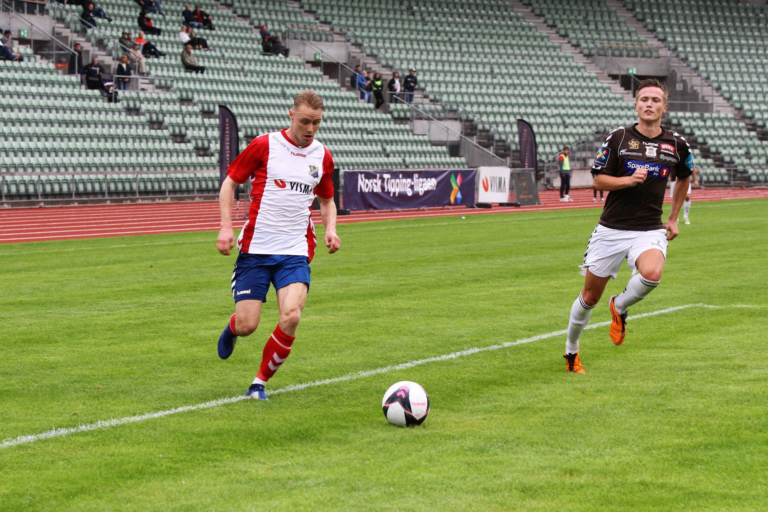 Eirik Haugstad og resten av gutta var fornøyde med å være tilbake på Bislett, men det ble bare poengdeling. Foto: Linnea Halse