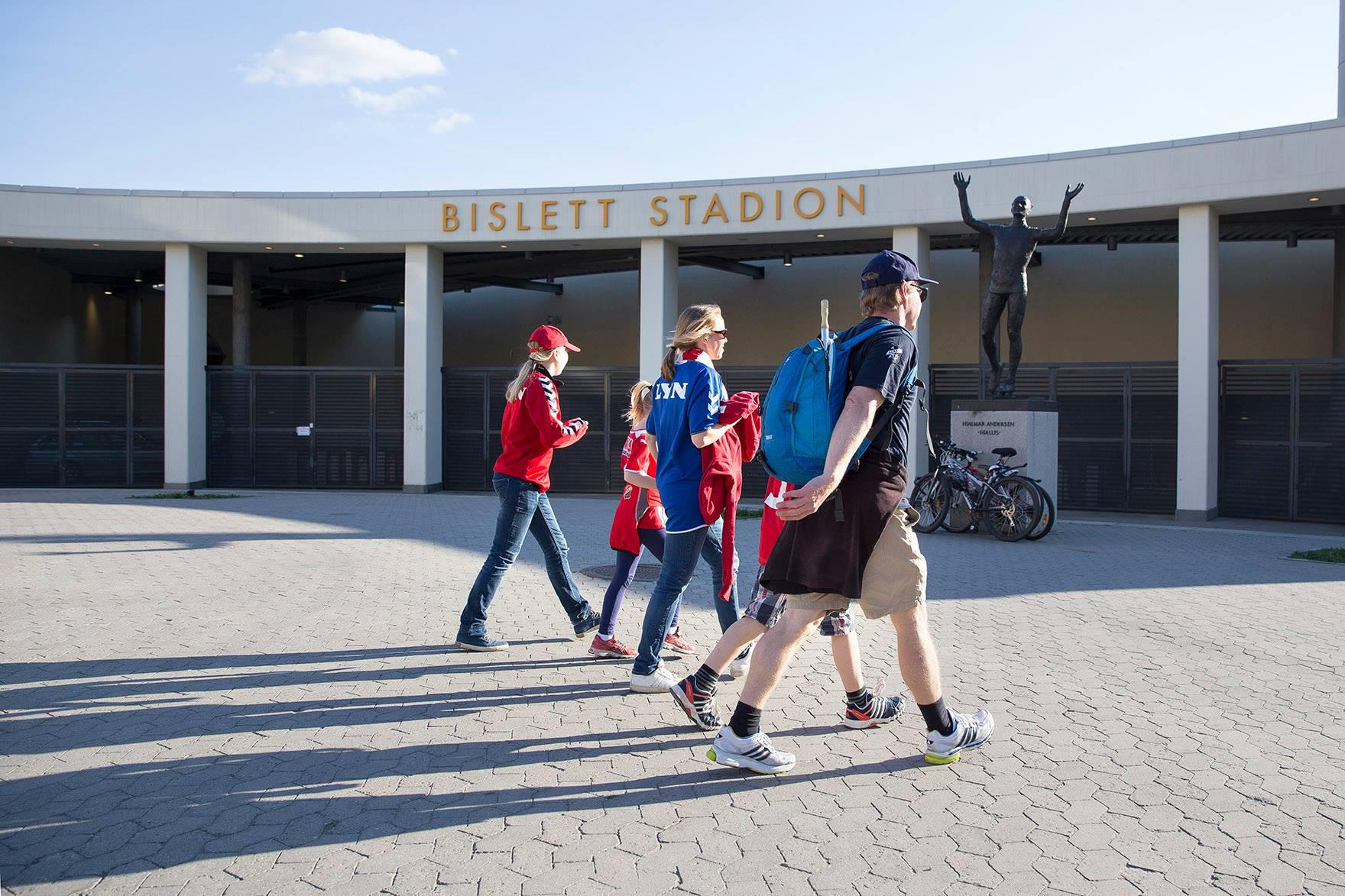 Lyn - Halsen på Bislett stadion på lørdag. Arkivfoto:  BillyBonkers