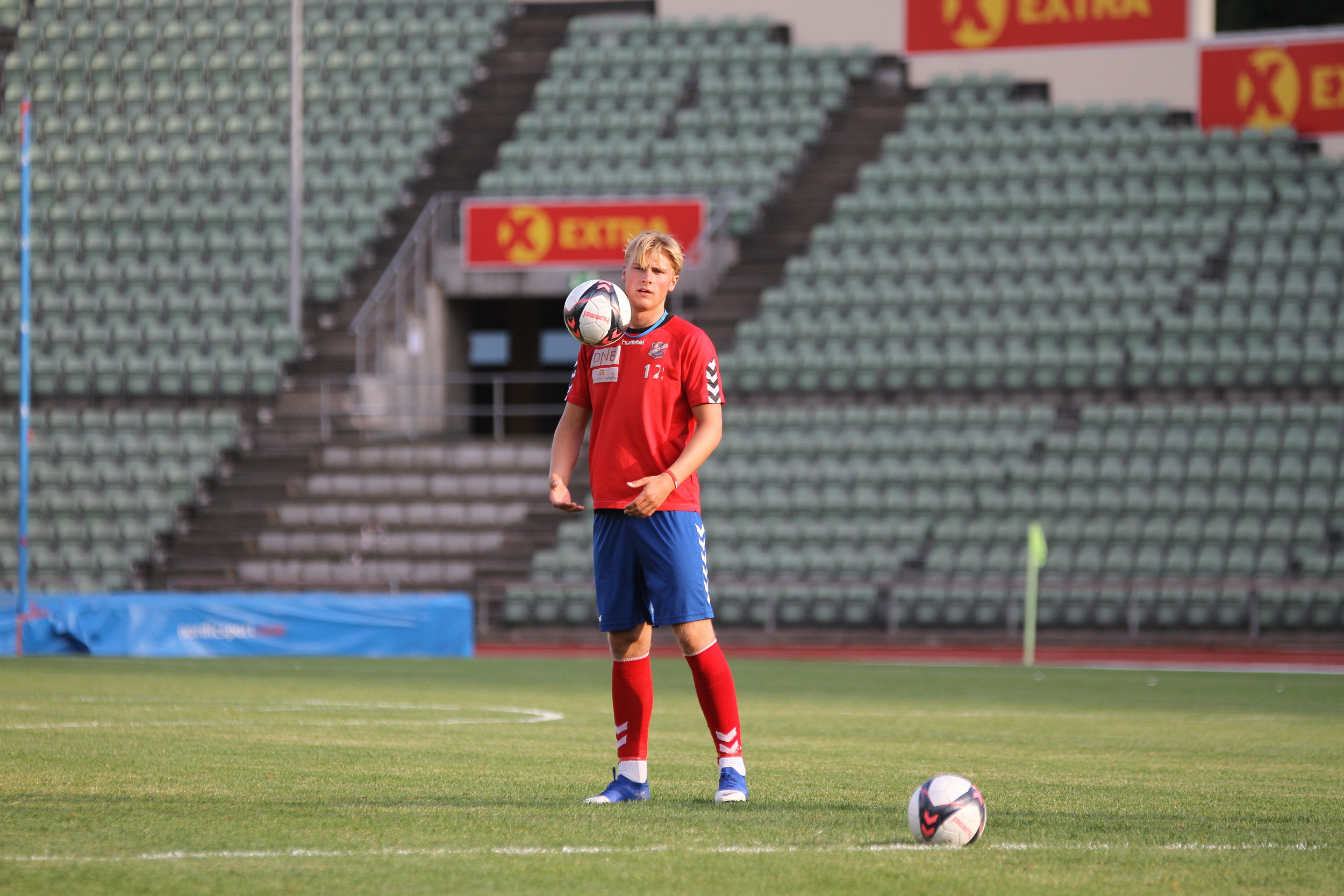 Fredrik Graham Hansen før Frigg-kampen. Foto: Frank Halse