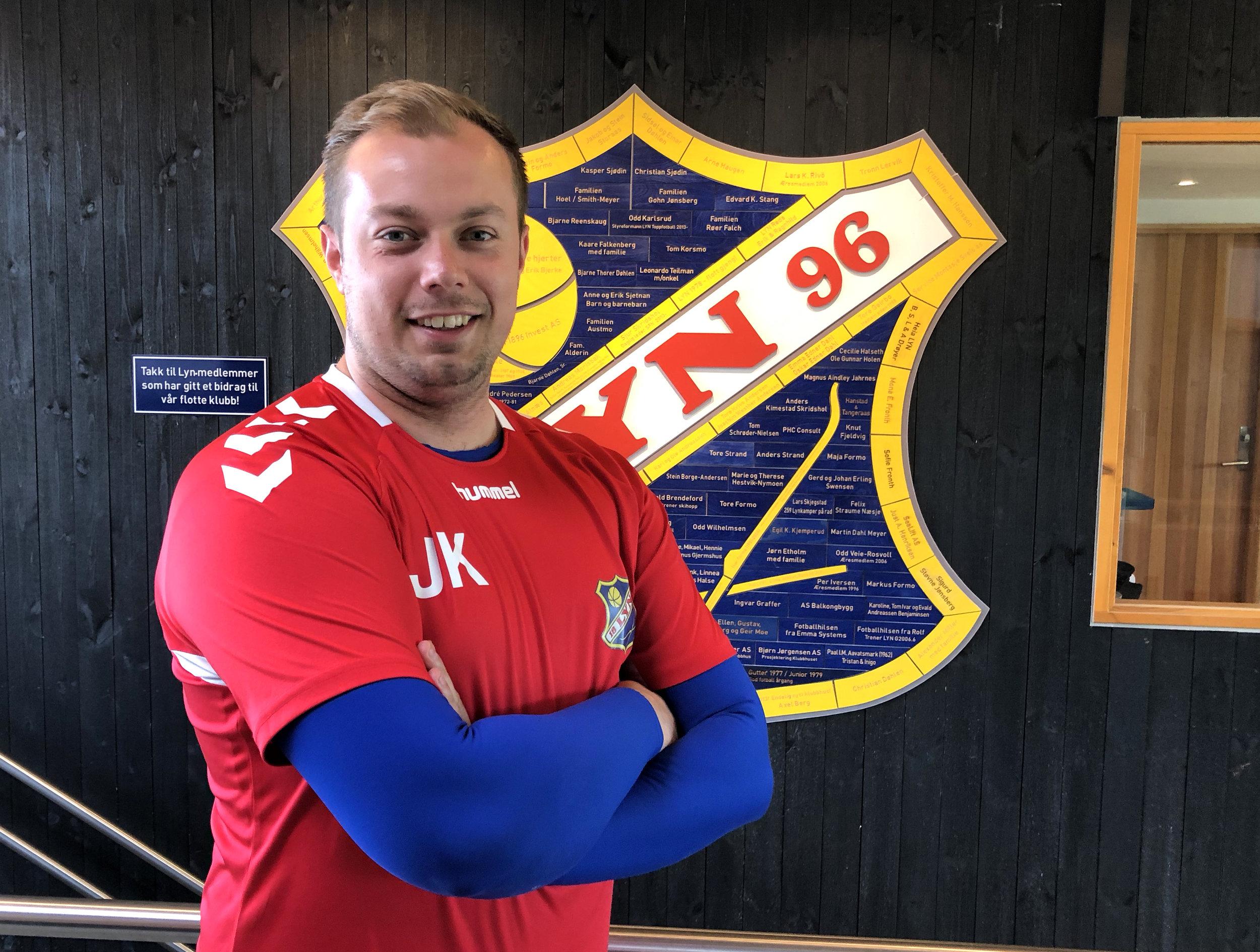 Jake Knight er ny keepertrener i Lyn. Foto: Lyn1896.no
