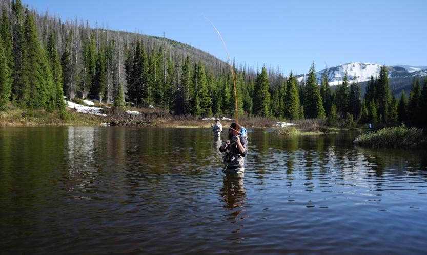 Fishing on Joe Wright Reservoir