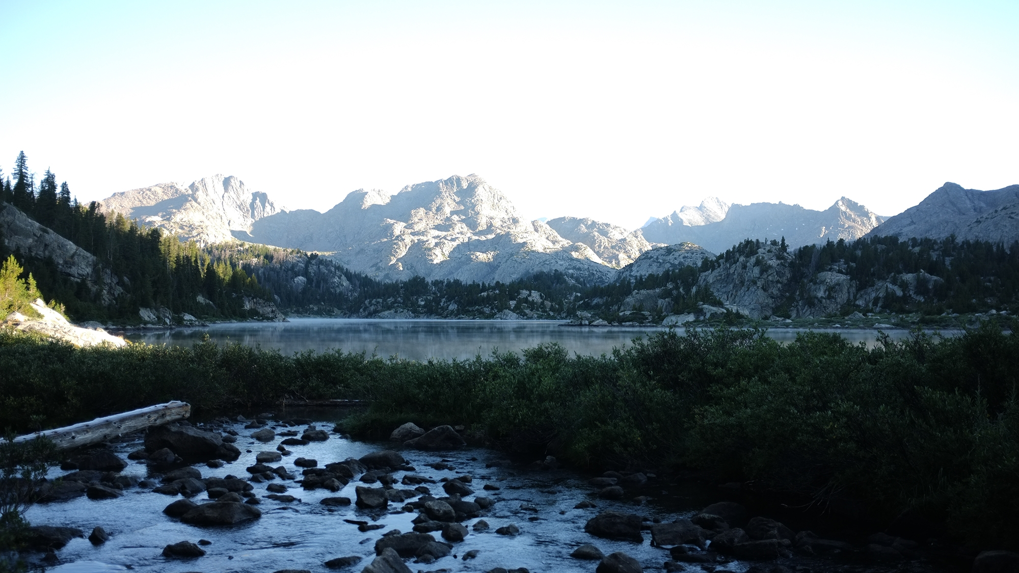 View of camping in the Wind River Range