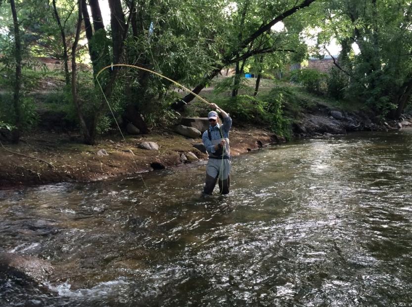 Fishing along the Boulder Creek Path  Photo by Sam Larson