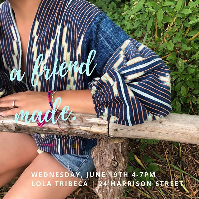 Join us this Wednesday, June 19th from 4-7pm at LoLa Tribeca | 24 Harrison Street.