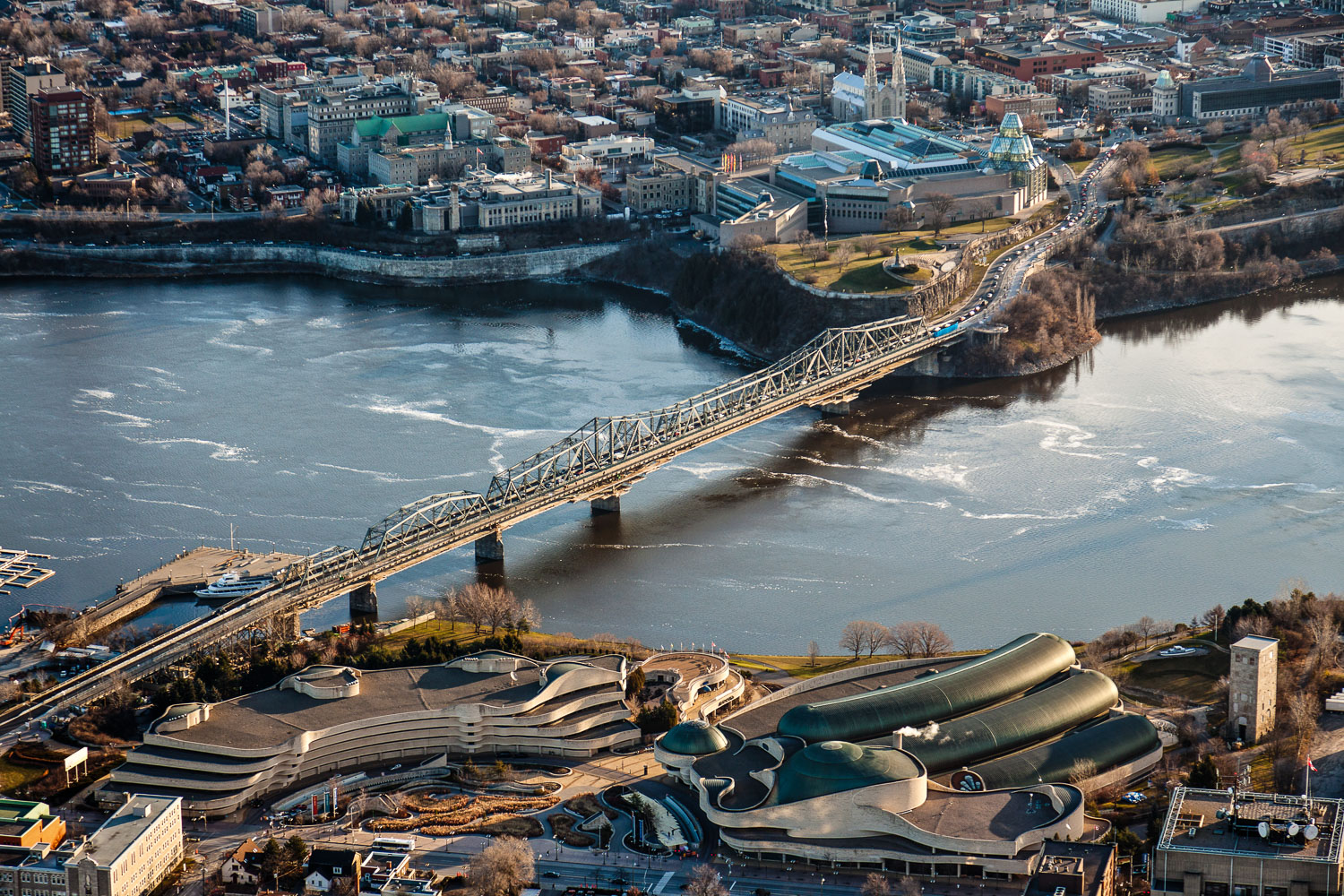 Photograph of the champlain bridge in Ottawa