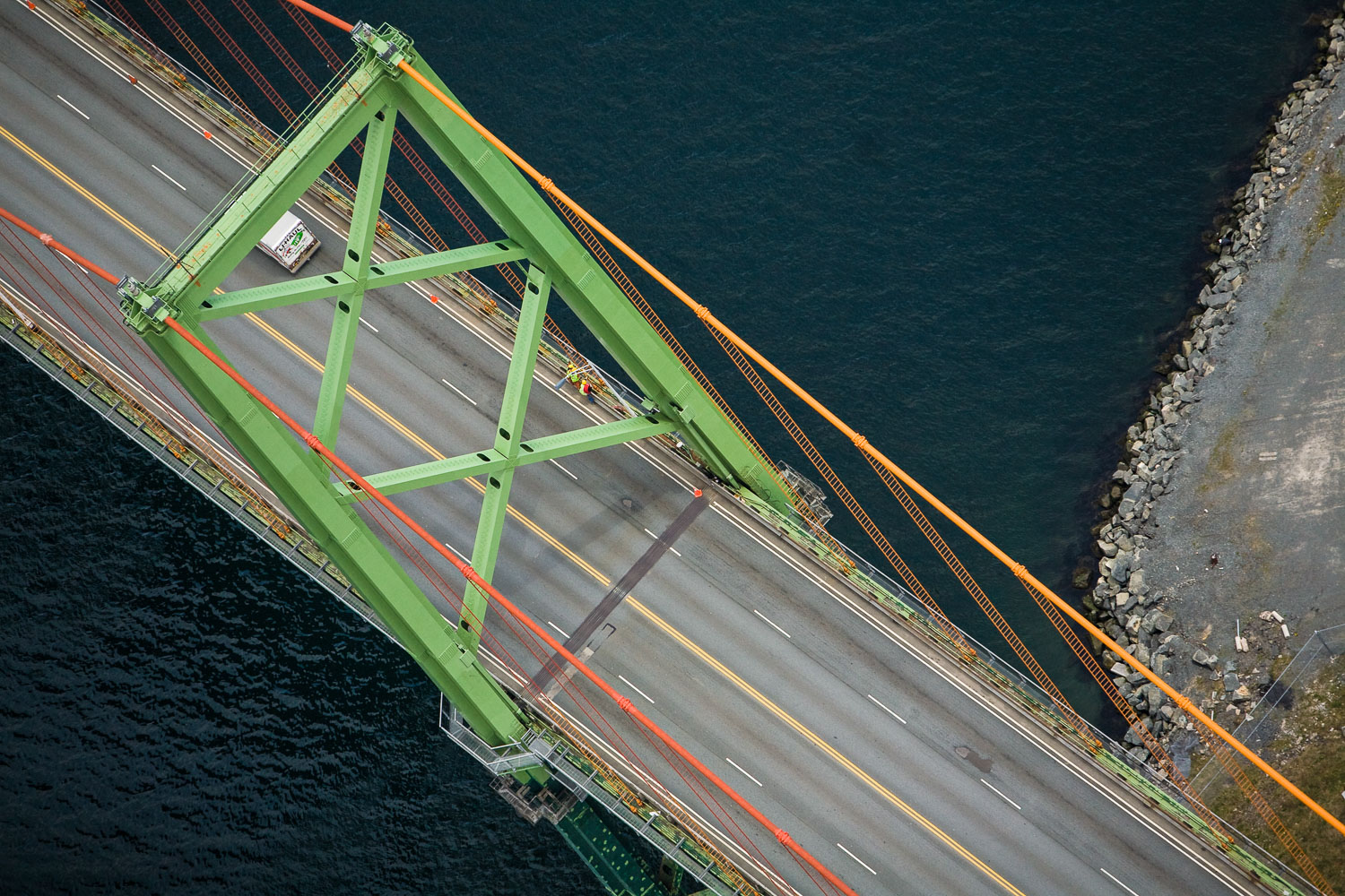 Photograph of the Macdonald Bridge in Halifax