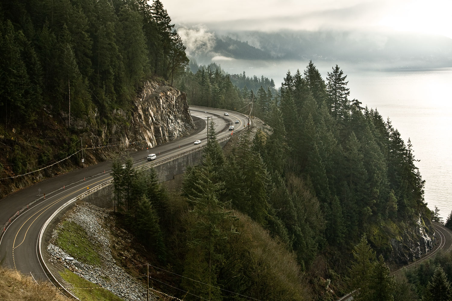 Photograph of a mountain highway