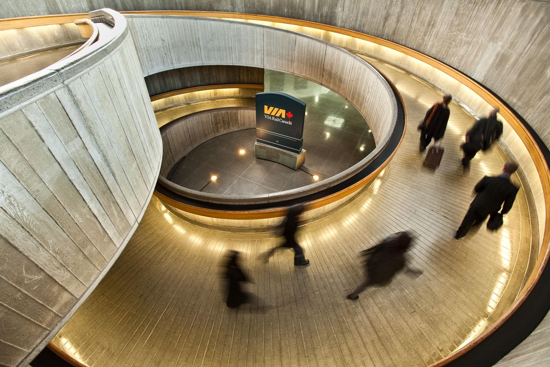 Photograph of a spiral walkway in Ottawa