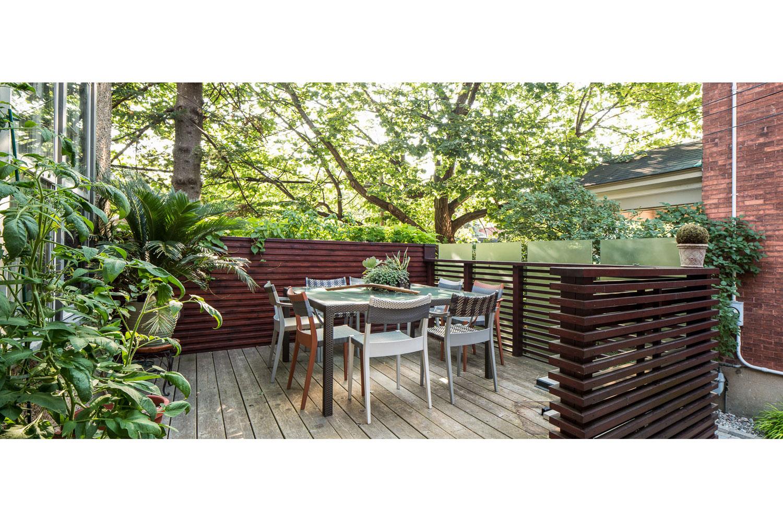 Photograph of an outdoor deck