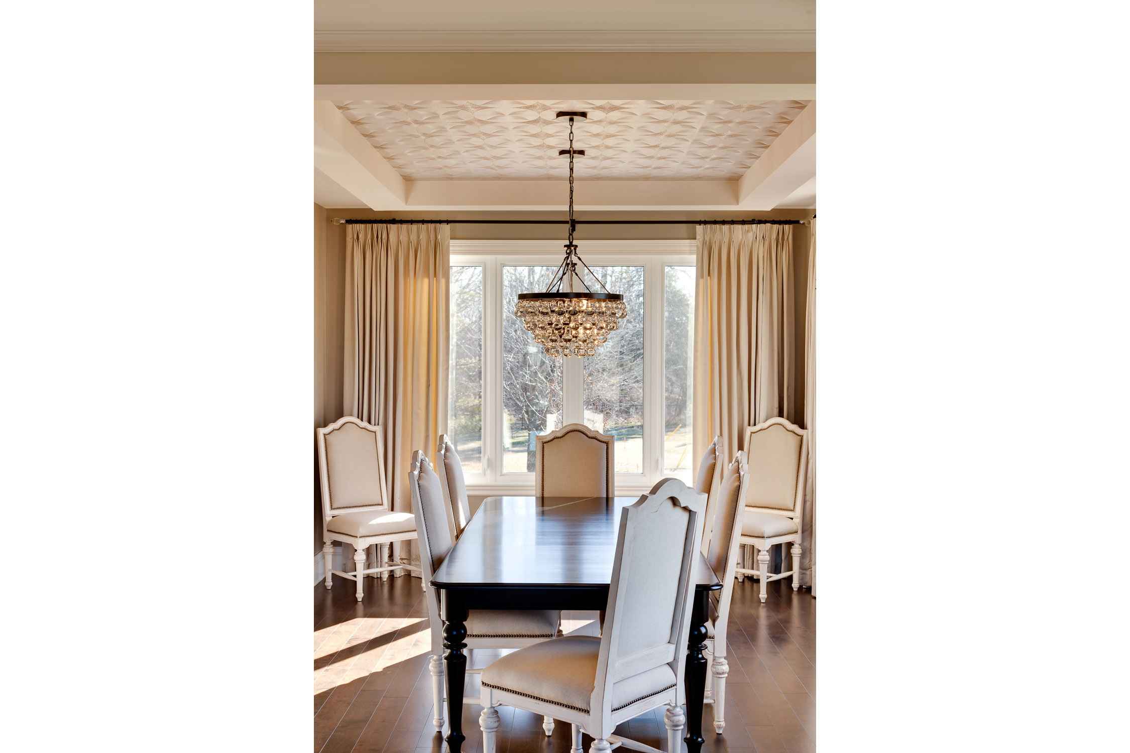 Photograph of a dining table