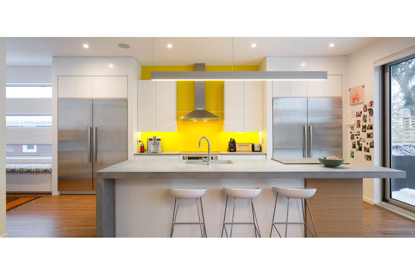 Photograph of a modern kitchen