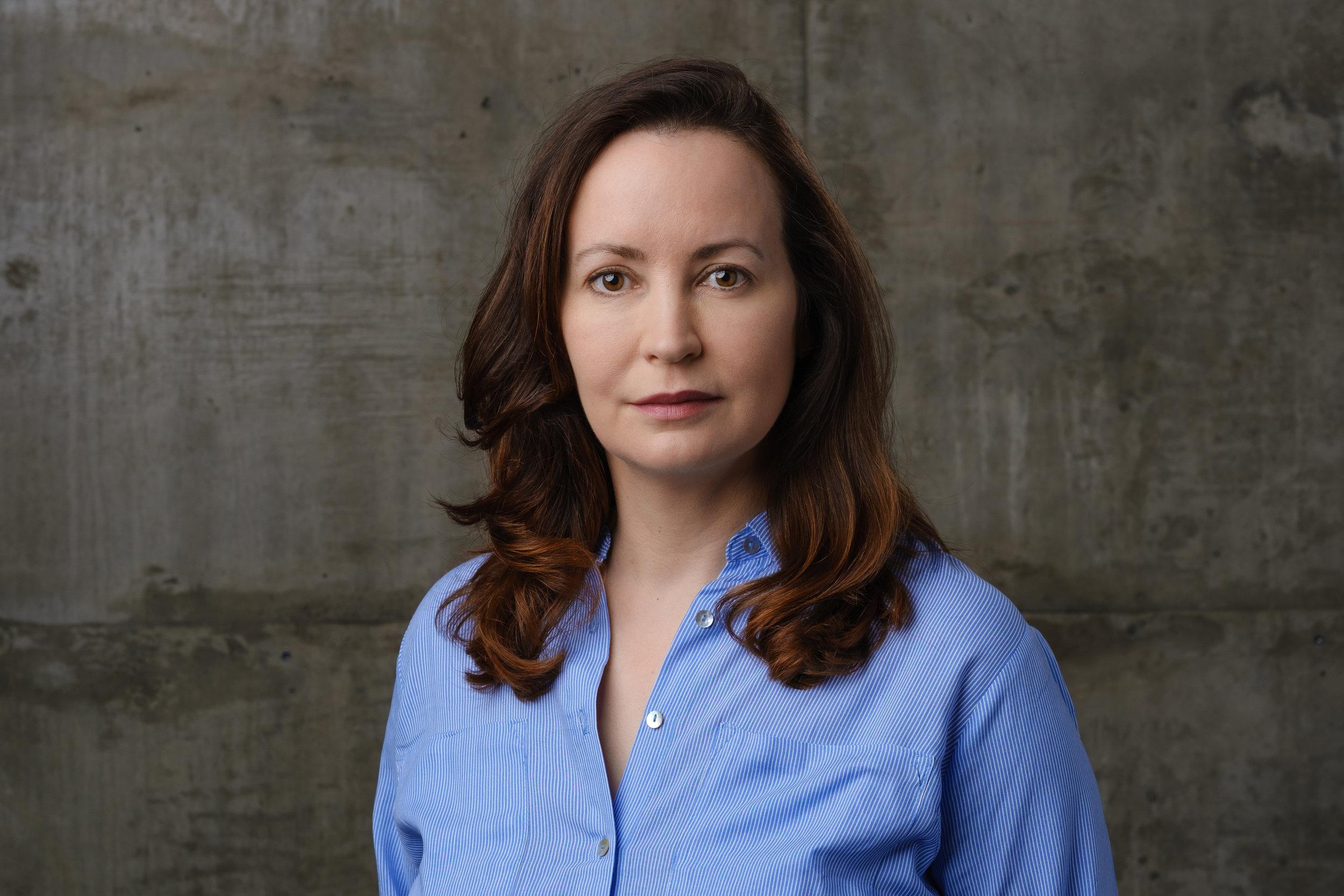 in studio actress in headshot