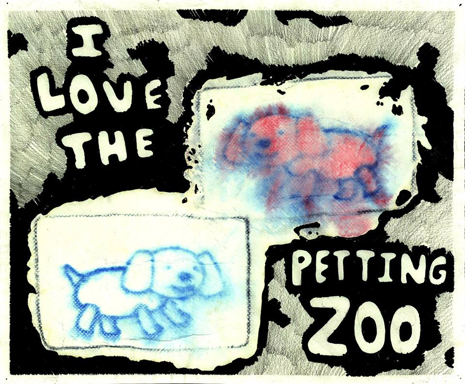 petting zoo  ink,graphite,markers