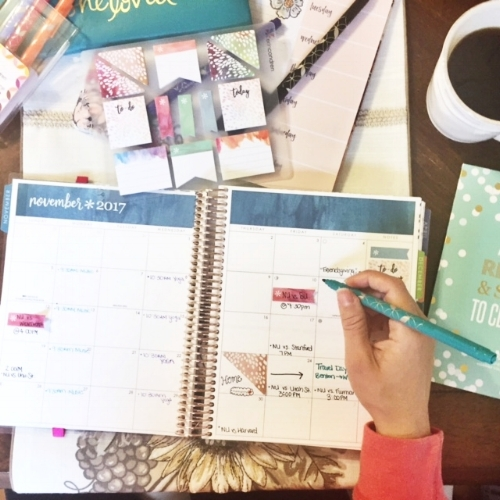 My new morning routine...coffee + planner fun :)
