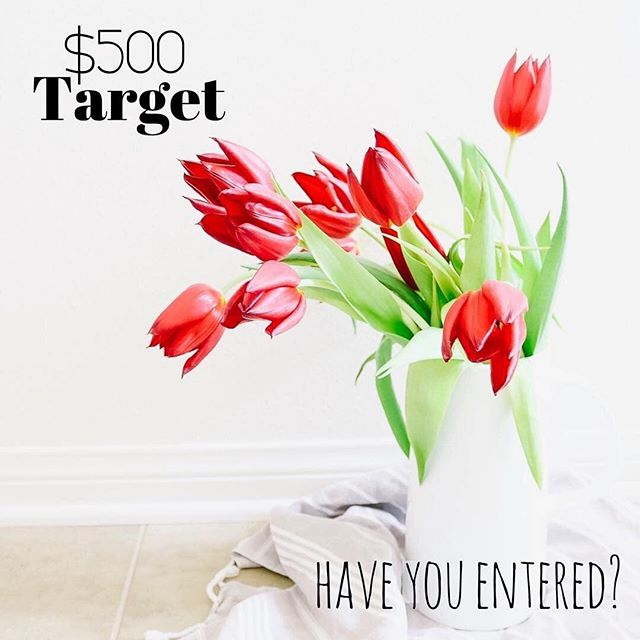 🌷HAVE YOU ENTERED?!🌷 Only 24hrs left to enter to win a $500 to TARGET! See my original post to enter or head to @millennial_giveaways and follow everyone they follow! Only takes a few seconds to enter! . . . #targetmama #targetstyle #targetmom #targetdoesitagain #targethome #targetfinds #momstuff #mommyblogger